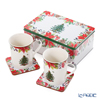 Spode 'Christmas Tree' Mug & Coaster (set of 4 for 2 persons)