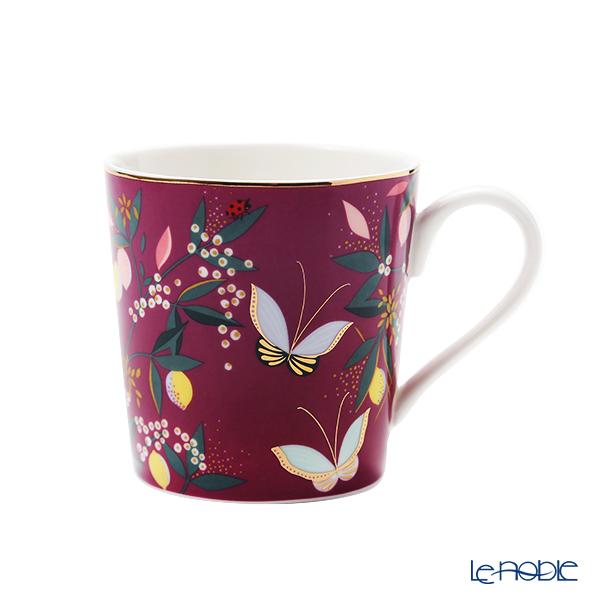 Portmeirion x Sarah Miller London 'Orchard' Mauve Purple Mug 340ml