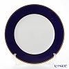 Augarten 'Coloured Border' Cobalt Blue (Gold rim / Thin line) Charger Plate 28cm [Schubert shape]