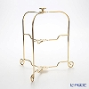 Sakurai's one-touch plate stand 2-stage 22013011 Plate diameter for 19-24 cm gold plated folding