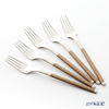 J-Tone Sakurai delustered cutlery cozy Brown Tea fork 5-piece set