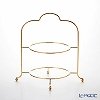 Sakurai's high tea stand 2-stage 24 gold-plated * usable plate size 27 cm *.