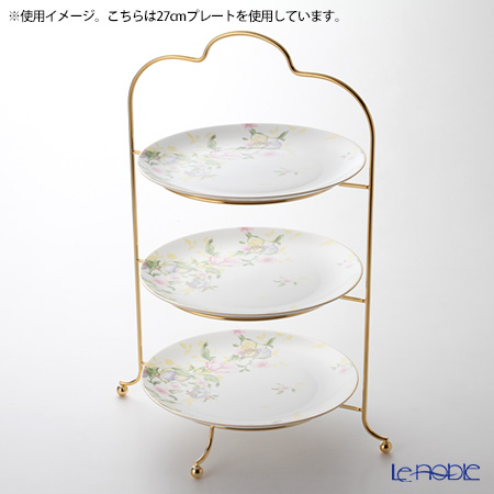 Sakurai '24K Gold plated' 3 Tier High Tea / Cake Stand H51.5cm (for 23.5-27cm Plate)