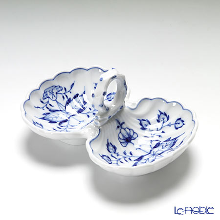 マイセン(Meissen) ブルーオニオン 800101/00204 薬味/レモン入れ H5cm/L11.5cm