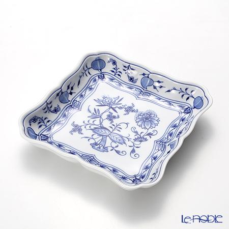マイセン(Meissen) ブルーオニオン 800101/00275角プレート 17.5cm