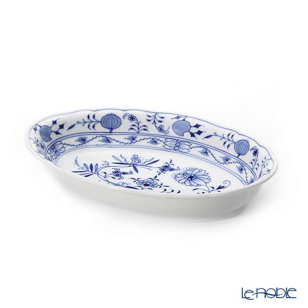 Meissen 'Blue Onion' 800101/00280 Oval Salad Dish (L) 25.5x17.5cm