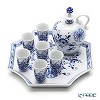 Meissen 'Blue Onion' 800101/C5521 Liqueur Cup, Bottle, Tray (set of 8 for 6 persons)