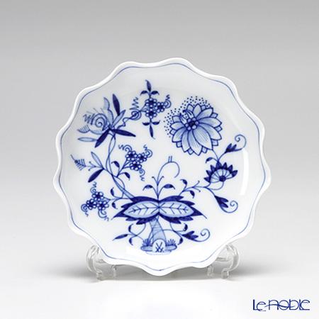 マイセン(Meissen) ブルーオニオン 800101/44002 波型取皿 2.8×11cm