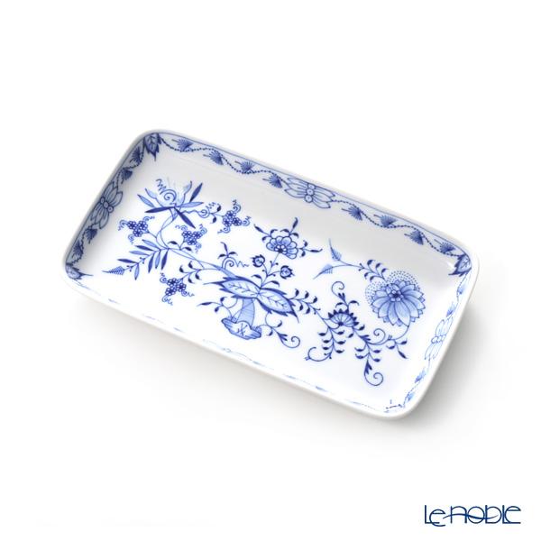 マイセン(Meissen) ブルーオニオン 800101/44060長角皿 23×13cm