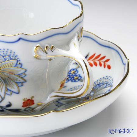 マイセン(Meissen) ブルーオニオン レッド&ゴールド 800117/00582コーヒーカップ&ソーサー 200cc