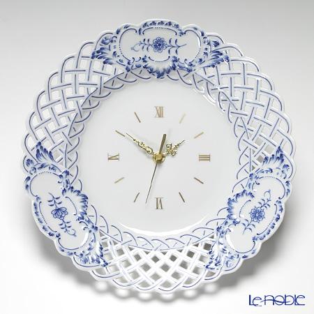 マイセン(Meissen) ブルーオニオン 802001/54m57掛け時計(すかし) 29cm