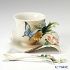 Franz Collection Fluttering Beauty flower and butterfly sculptured cup/saucer/spoon set FZ01838