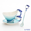 Franz Collection 'Dolphin Splash (Sea Animal)' FZ05560 Sculptured Cup & Saucer with Spoon