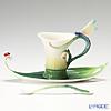 Franz Collection Peace & Harmony Bamboo design sculptured porcelain cup/saucer set FZ02120