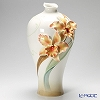 Franz Collection Orchid flower porcelain hand painted large vase FZ02329