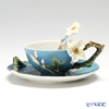 Franz Collection Van Gogh Almond flowers design sculptured porcelain cup/saucer set with spoon FZ02452
