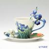 Franz Collection Van Gogh Irises design Sculptured porcelain cup/saucer set with spoon FZ02453