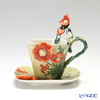 Franz Collection 'Van Gogh - Poppy Flower (Butterfly)' FZ02455 Sculptured Cup & Saucer with Spoon