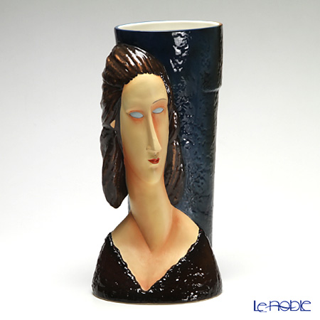 Franz Collection 'Philadelphia Museum - Blue-Eyed Lover' FZ02530 Sculptured Vase H36.5cm