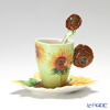 Franz Collection 'Van Gogh - Sunflowers' FZ02459 Sculptured Cup & Saucer with Spoon