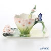 Franz collection Cosmos & Butterfly Cup & Saucer with a spoon FZ03013