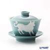 Franz Collection 'Zodiac - Ox' Blue Green JB00907 Covered Oriental Cup & Saucer