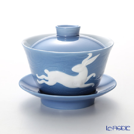 Franz Collection 'Zodiac - Rabbit / Hare' Blue JB00909 Covered Oriental Cup & Saucer