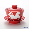 Franz Collection 'Zodiac - Horse' Red JB00912 Covered Oriental Cup & Saucer