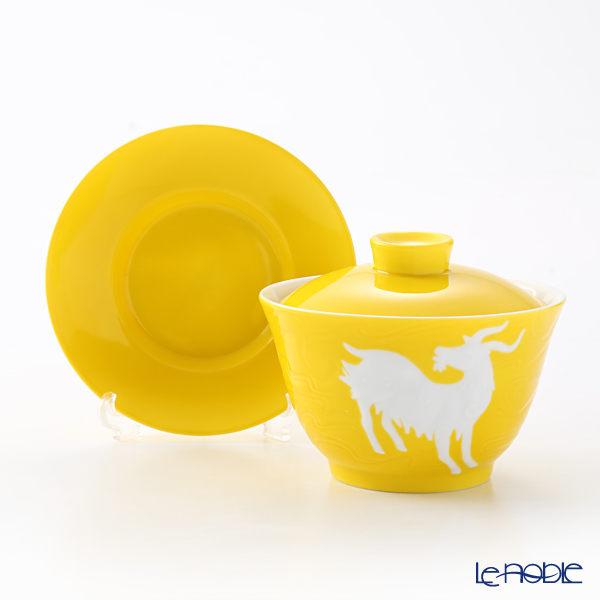 Franz Collection 'Zodiac - Sheep' Yellow JB00913 Covered Oriental Cup & Saucer
