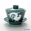 Franz Collection 'Zodiac - Rooster' Green JB00915 Covered Oriental Cup & Saucer