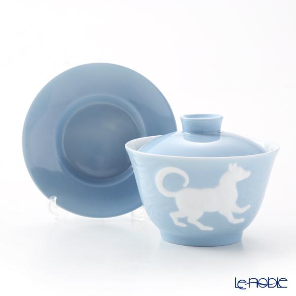 Franz Collection 'Zodiac - Dog' Light Blue JB00916 Covered Oriental Cup & Saucer