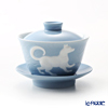 Franz Collection 'Zodiac - Dog' Light Blue JB00916 Covered Oriental Cup & Saucer