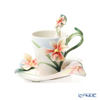 Franz Collection 'Four Seasons - Orchid (Flower)' FZ02901 Sculptured Cup & Saucer with Spoon