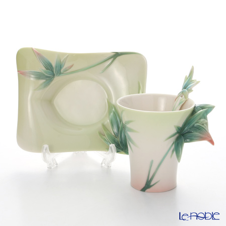 Franz collection four seasons bamboo Cup & Saucer with a spoon FZ02923