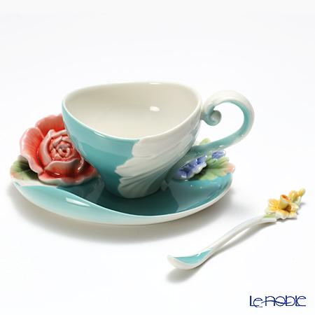フランツ・コレクション ヴェルサイユガーデンローズ カップ&ソーサー スプーン付 FZ02608