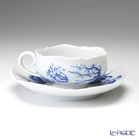 Meissen blue Orchid 824001 / 23633 Tea Cup & Saucer 150 cc