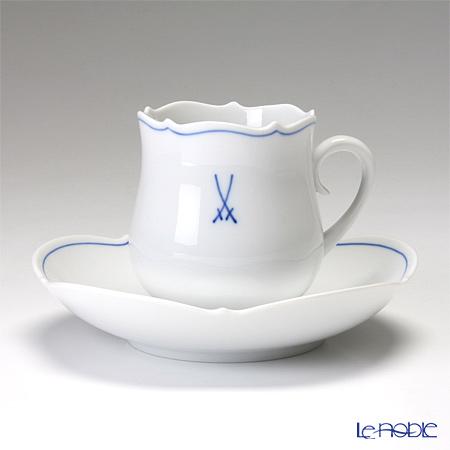 マイセン(Meissen) ホワイトマイセン(VIP) 825009/23582 コーヒーカップ&ソーサー 150cc