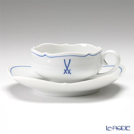 マイセン(Meissen) ホワイトマイセン(VIP) 825009/23633 ティーカップ&ソーサー 150cc