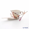 Franz collection fantasy Butterfly Cup & Saucer with a spoon XP1907