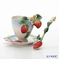 Franz collection Strawberry Cup & Saucer FZ00178