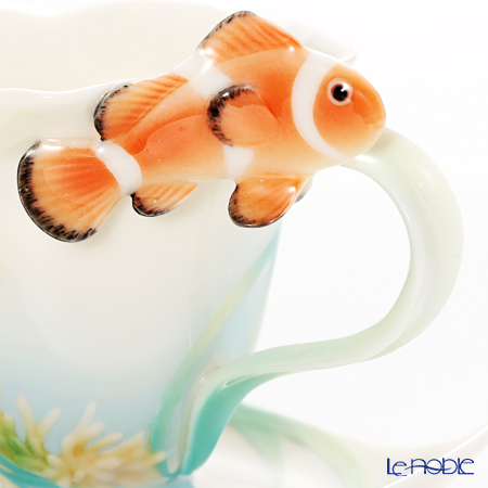 Franz Collection 'By The Sea - Fish (Sea Animal) FZ01137 Sculptured Cup & Saucer with Spoon