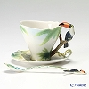 Franz Collection 'Paradise Calls Toucan (Bird Animal)' FZ00314 Sculptured Cup & Saucer with Spoon