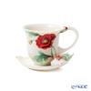 Franz Collection 'Poppy (Flower)' Red FZ00523 Sculptured Cup & Saucer