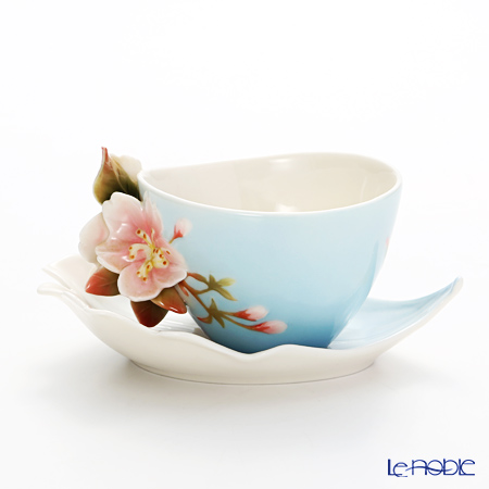 Franz collection cherry blossom Cup & Saucer with a spoon FZ01366