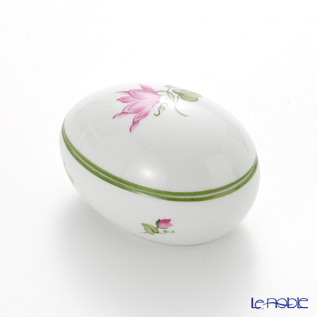 Augarten Viennese Flowers Egg Shape Box, cyclamen 5089H/606