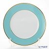 Augarten 'Coloured Border' Turquoise Blue / Gold rim - Thin line [Schubert shape] Charger Plate 28cm