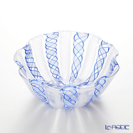 バラリン レース柄ボウル 14cm #052 ライトブルー×ホワイト