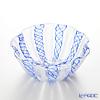 Rose Lynn lace pattern Bowl 14 cm #052 blue x White