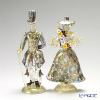 Rose paired figurine ladies and gentlemen 017 Multicolored mosaic