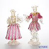 Ballarin 'Ruby x White Lace with Gold' 0018/17-Z Small Couple Figurine (set of 2)